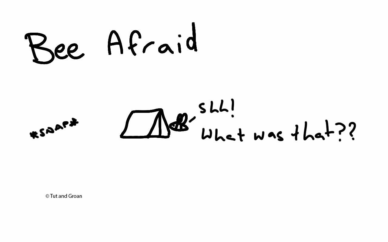 Tut and Groan Bee Afraid cartoon
