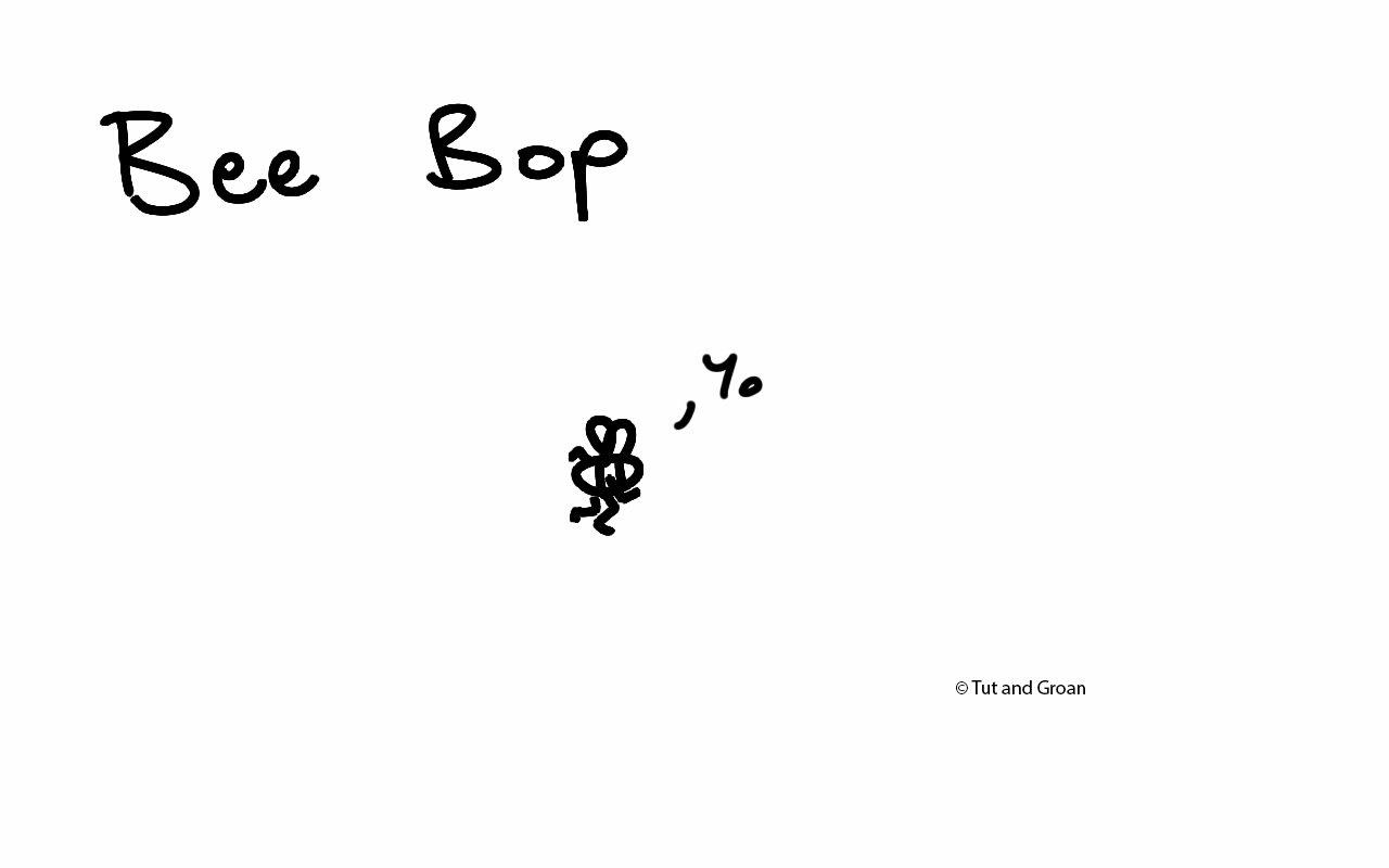 Tut and Groan Bee Bop cartoon