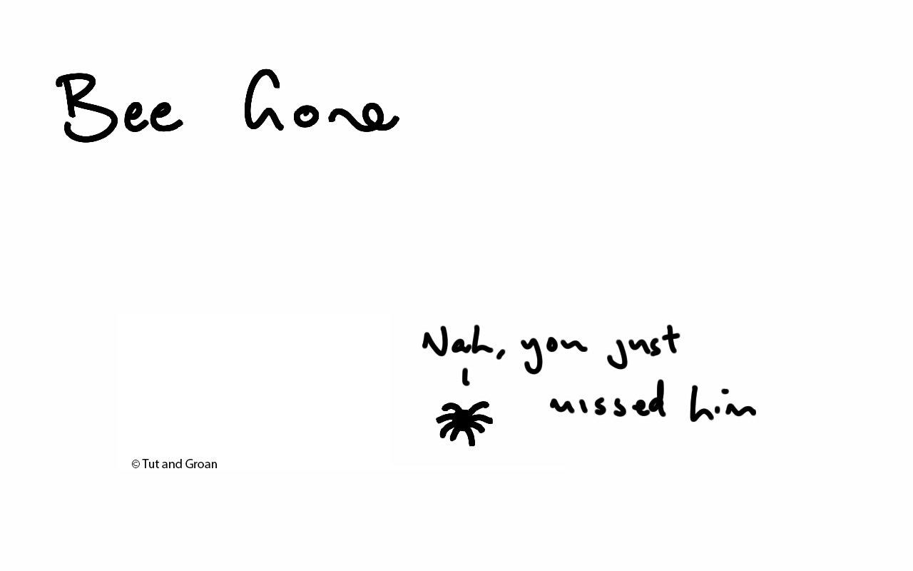 Tut and Groan Bee Gone cartoon