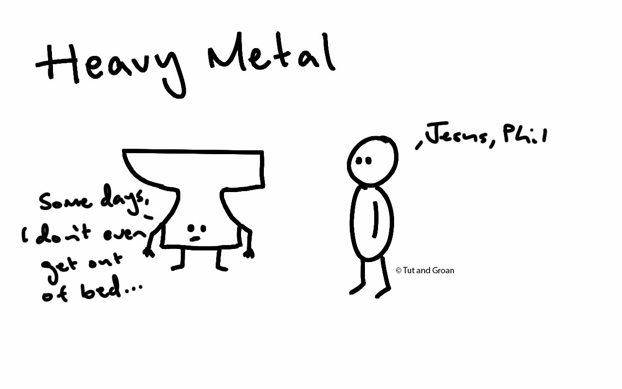 Tut and Groan Heavy Metal cartoon