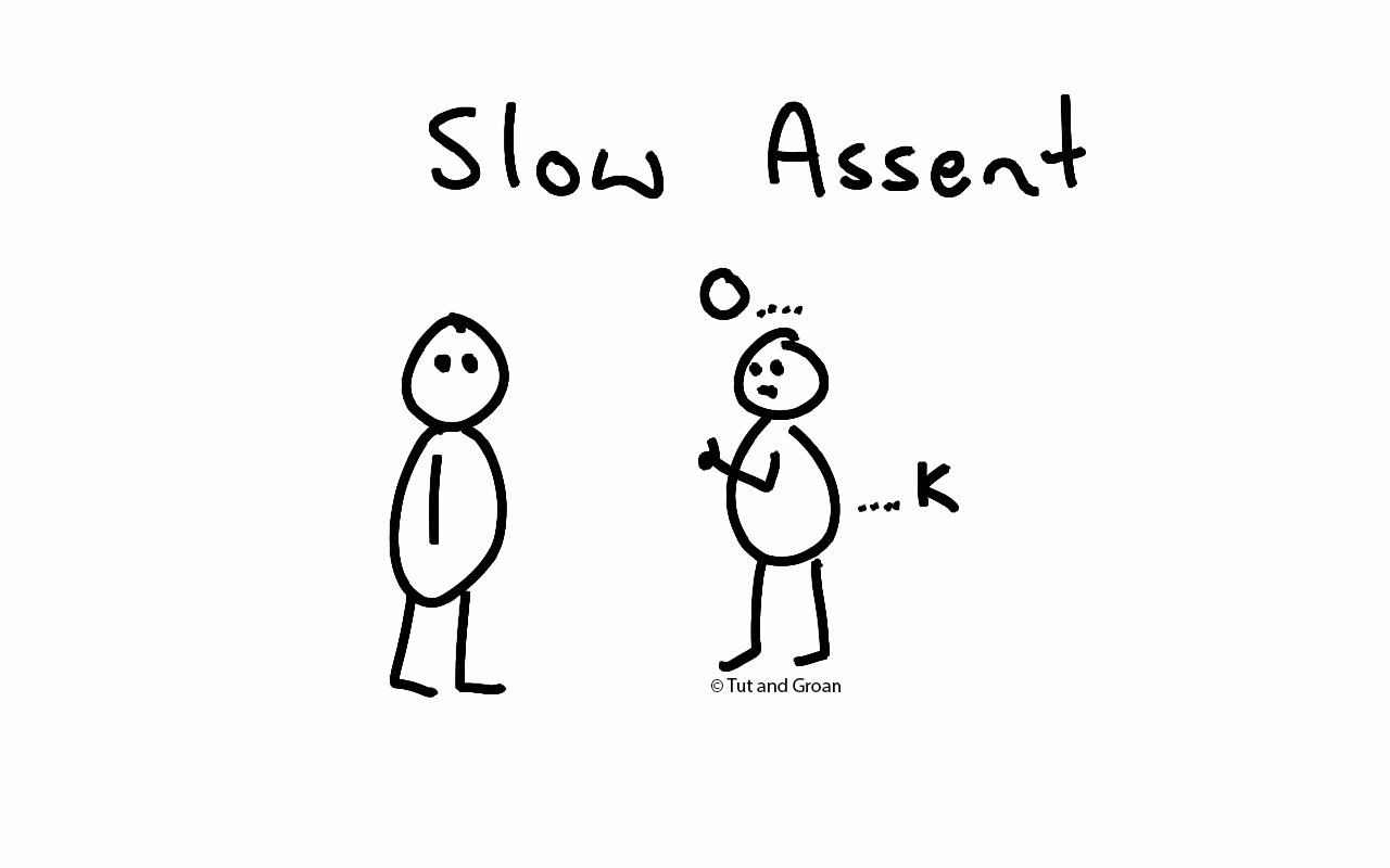 Tut and Groan Slow Assent cartoon
