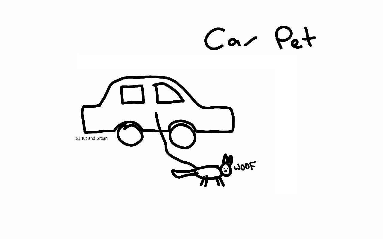 Tut and Groan Car Pet cartoon