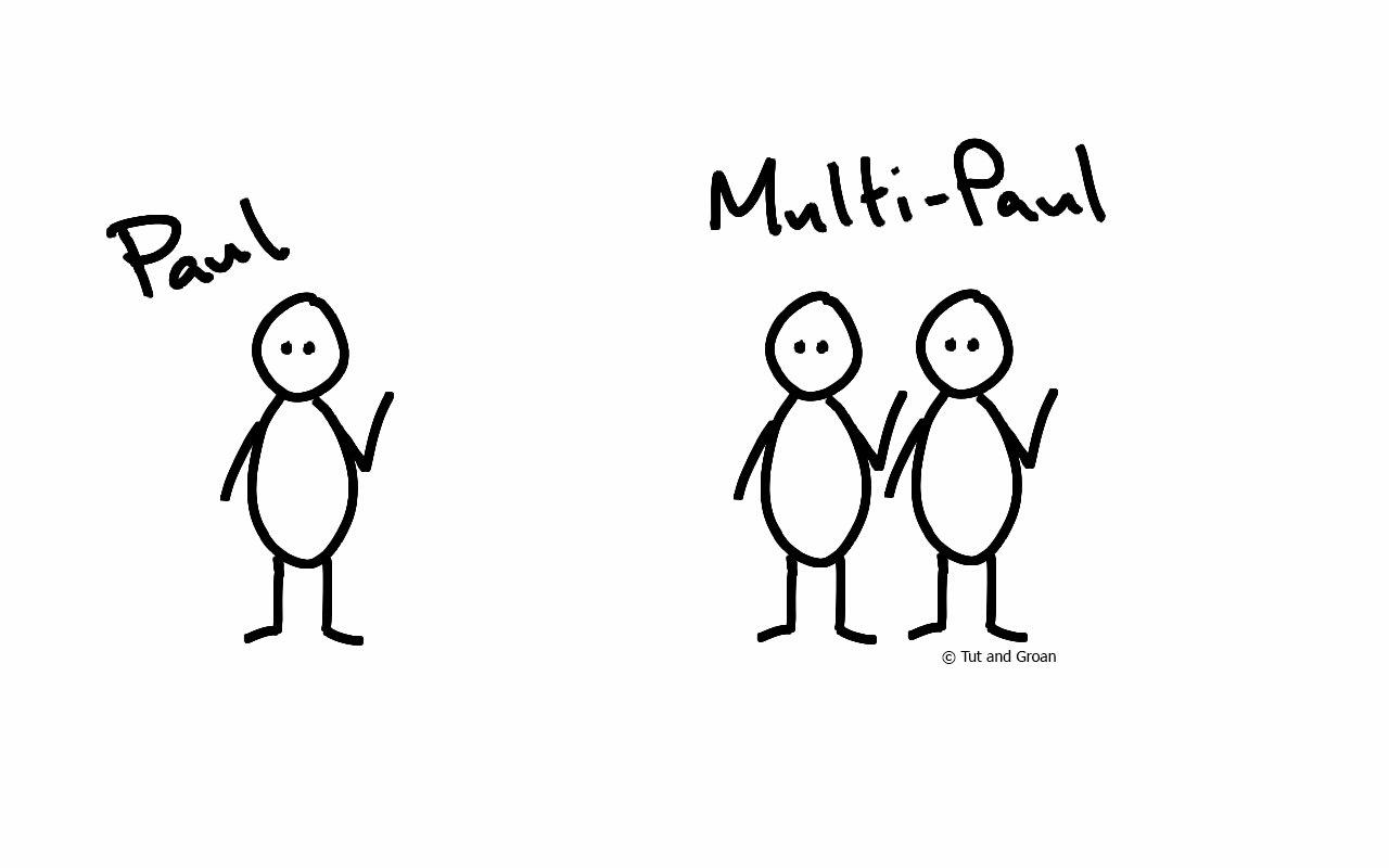 Tut and Groan Multi-Paul cartoon