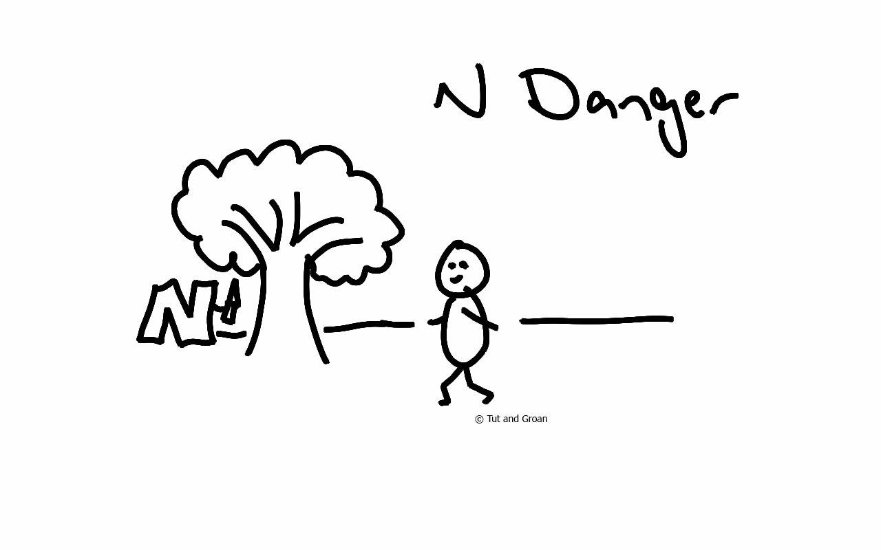 Tut and Groan N Danger cartoon