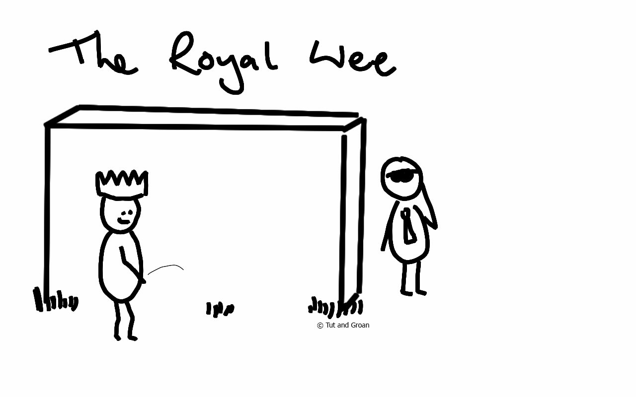 Tut and Groan The Royal Wee cartoon