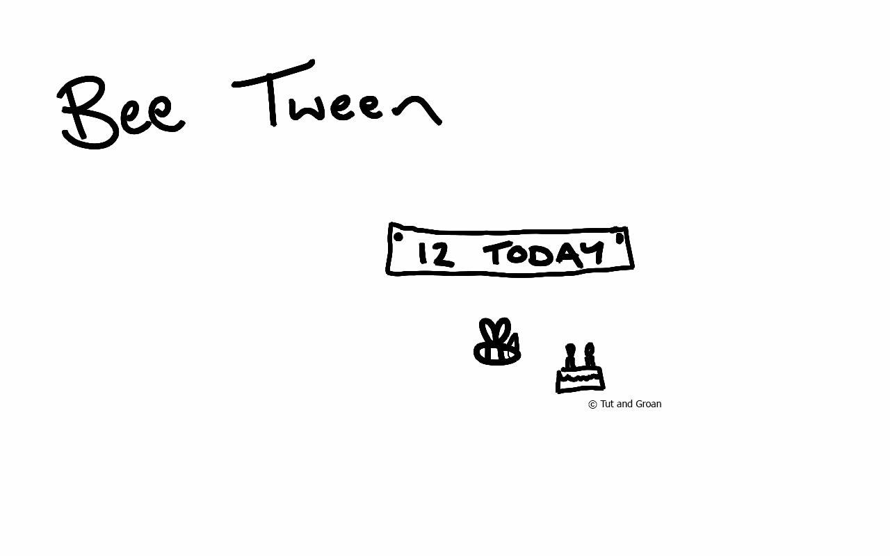Tut and Groan Bee Tween cartoon