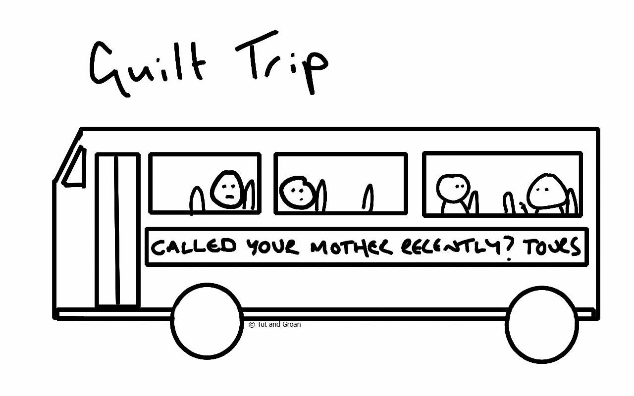 Tut and Groan Guilt Trip cartoon