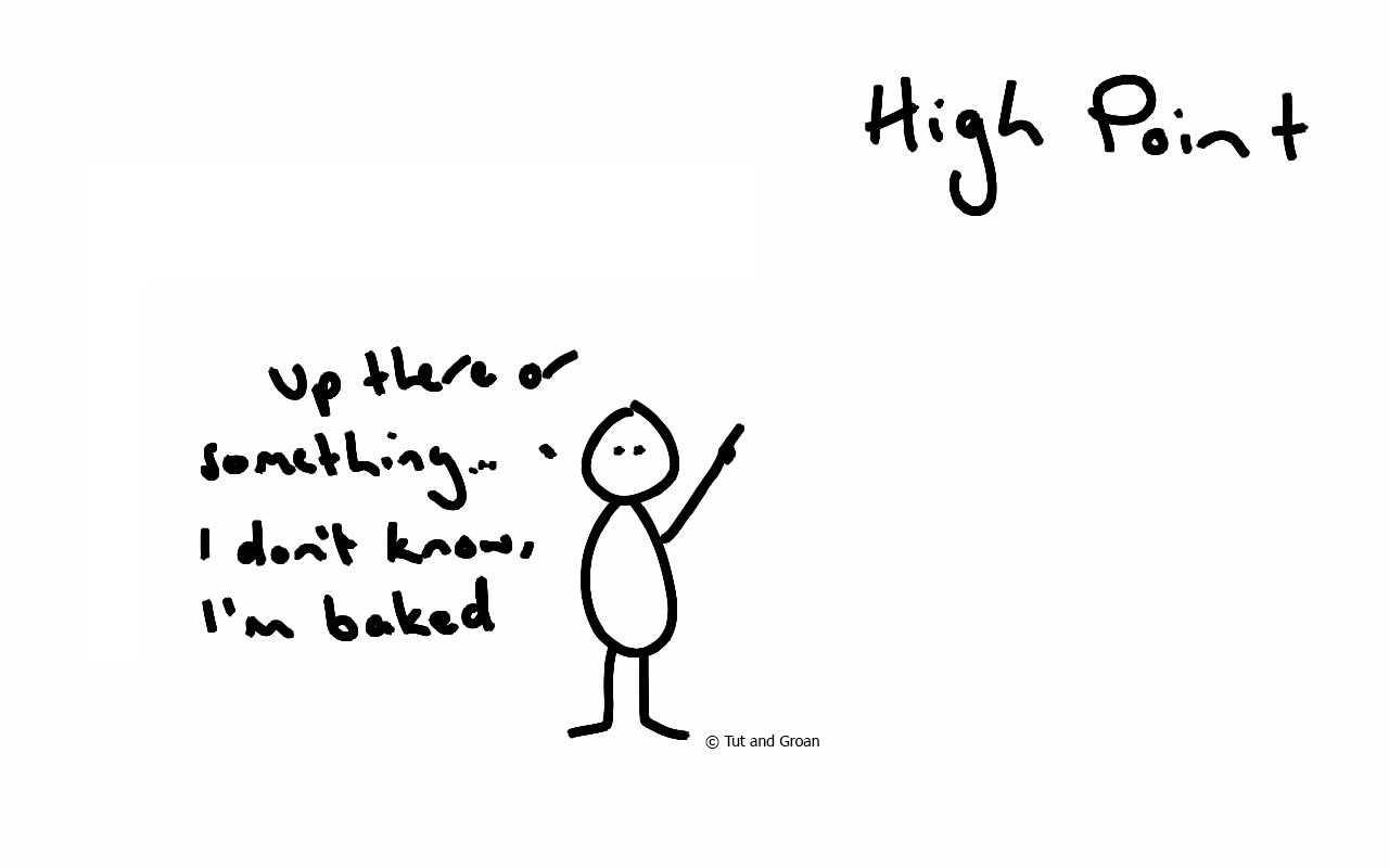Tut and Groan High Point cartoon