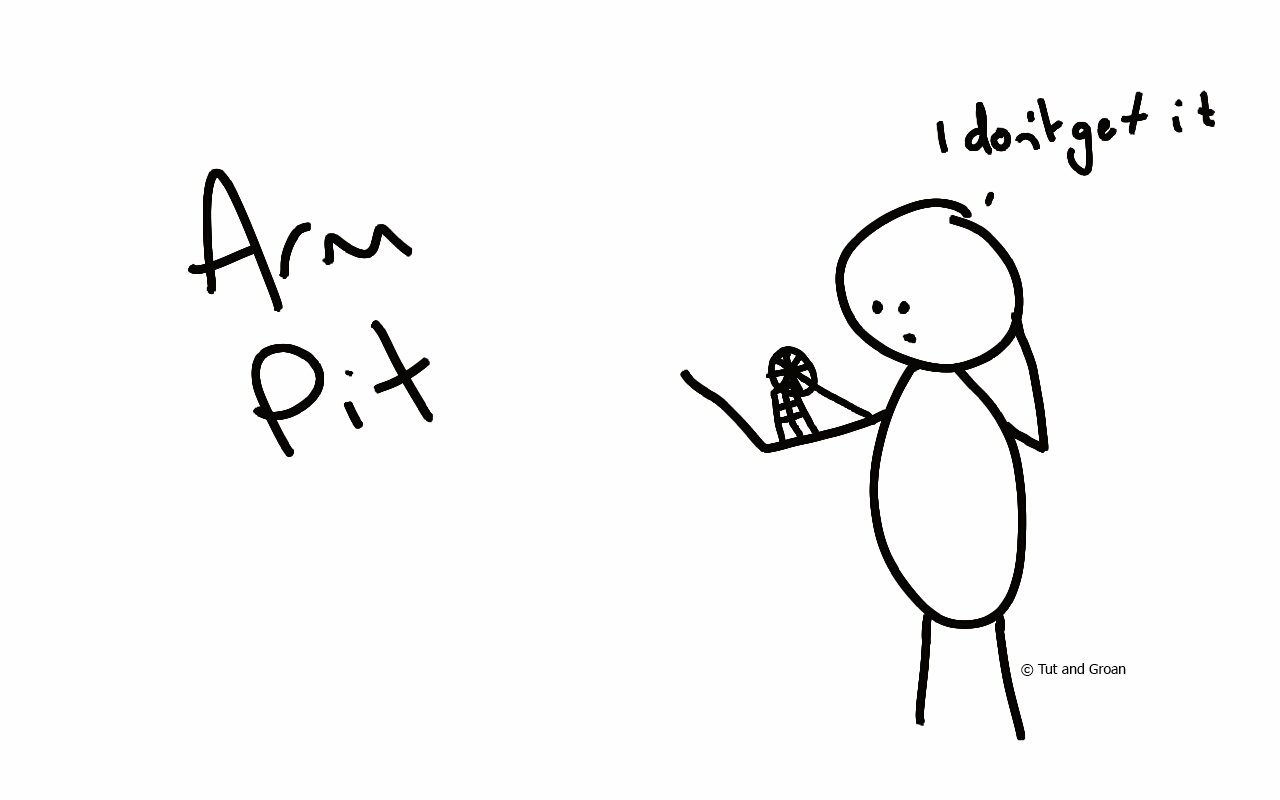 Tut and Groan Arm Pit cartoon