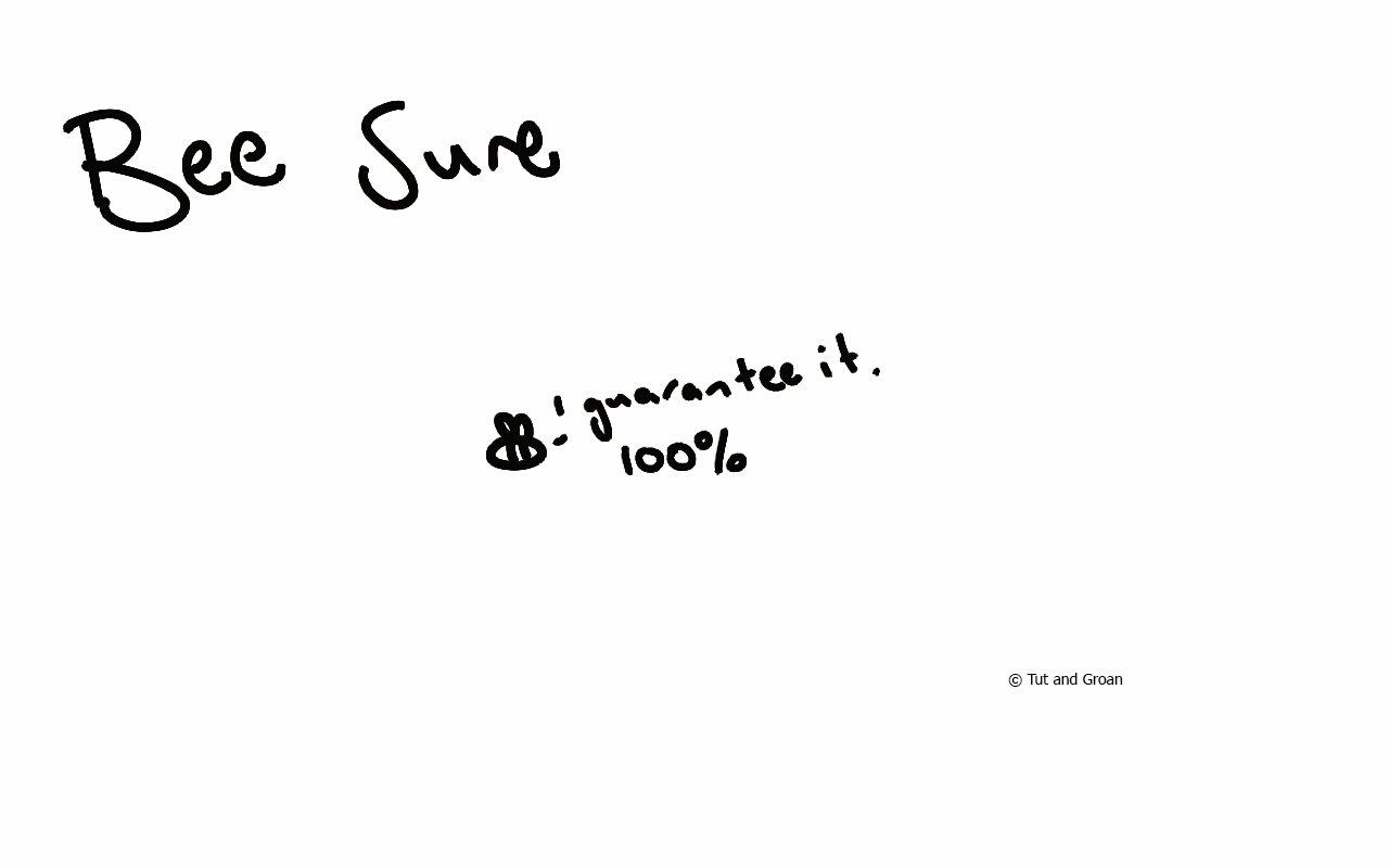 Tut and Groan Bee Sure cartoon