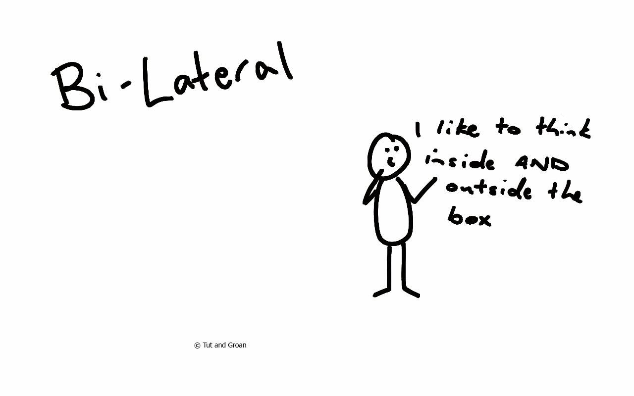Tut and Groan Bi-Lateral bilateral cartoon
