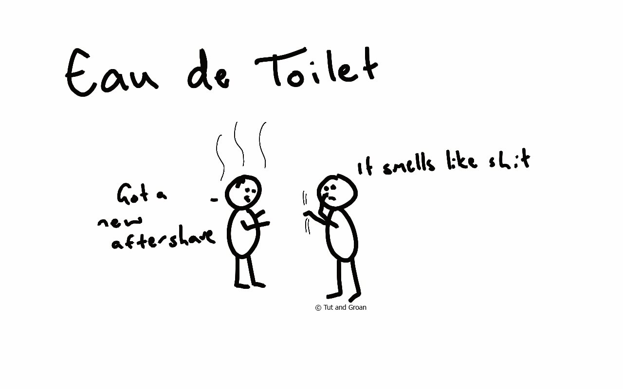 Tut and Groan Eau de Toilet cartoon