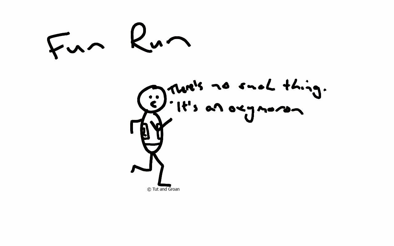 Tut and Groan Fun Run cartoon