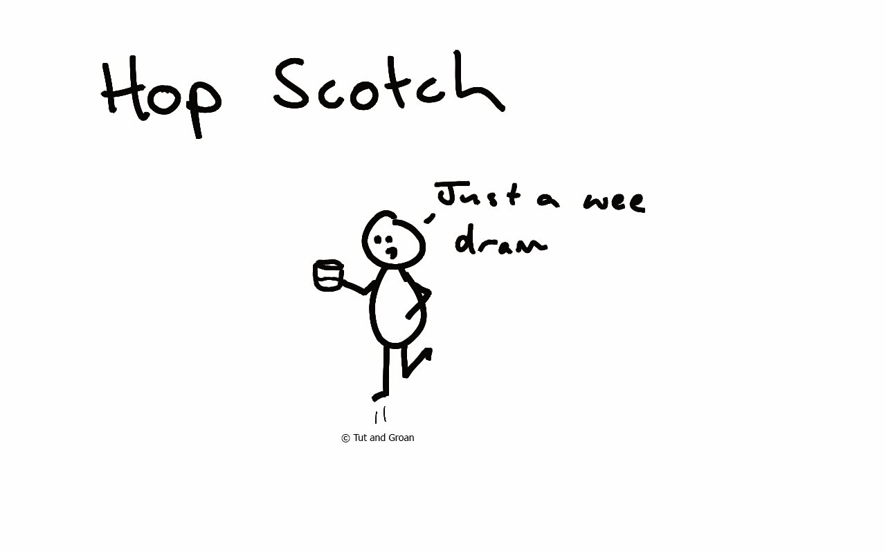 Tut and Groan Hop Scotch cartoon