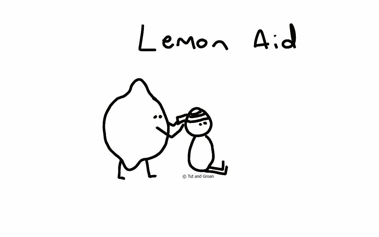 Tut and Groan Lemon Aid cartoon