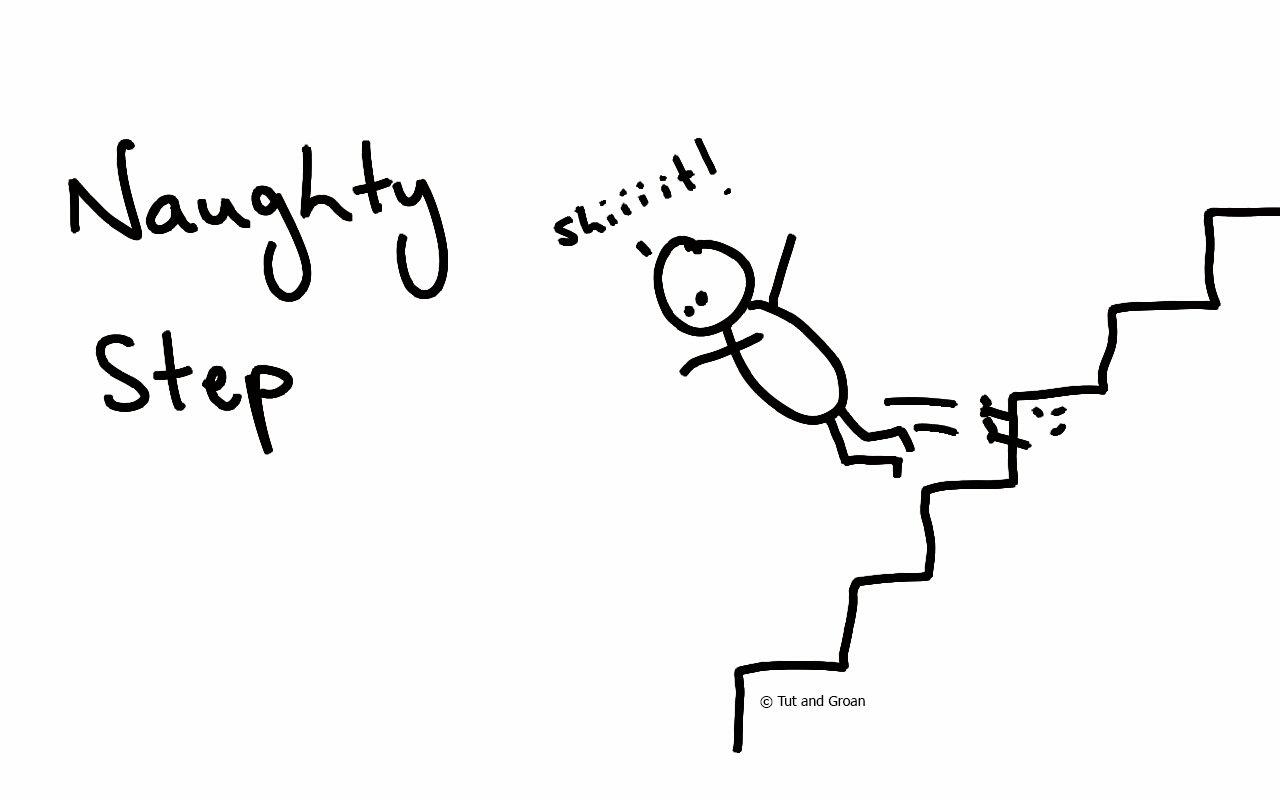 Tut and Groan Naughty Step cartoon