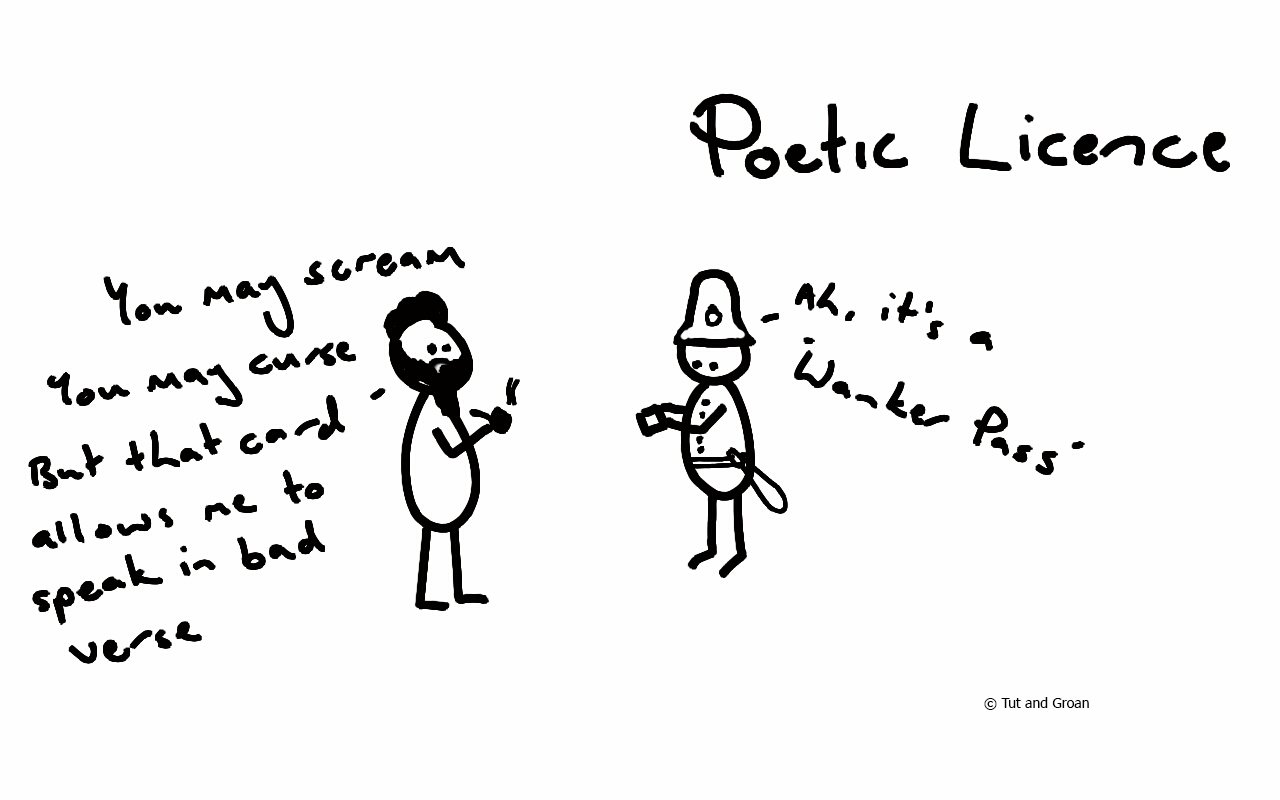 Tut and Groan Poetic Licence cartoon
