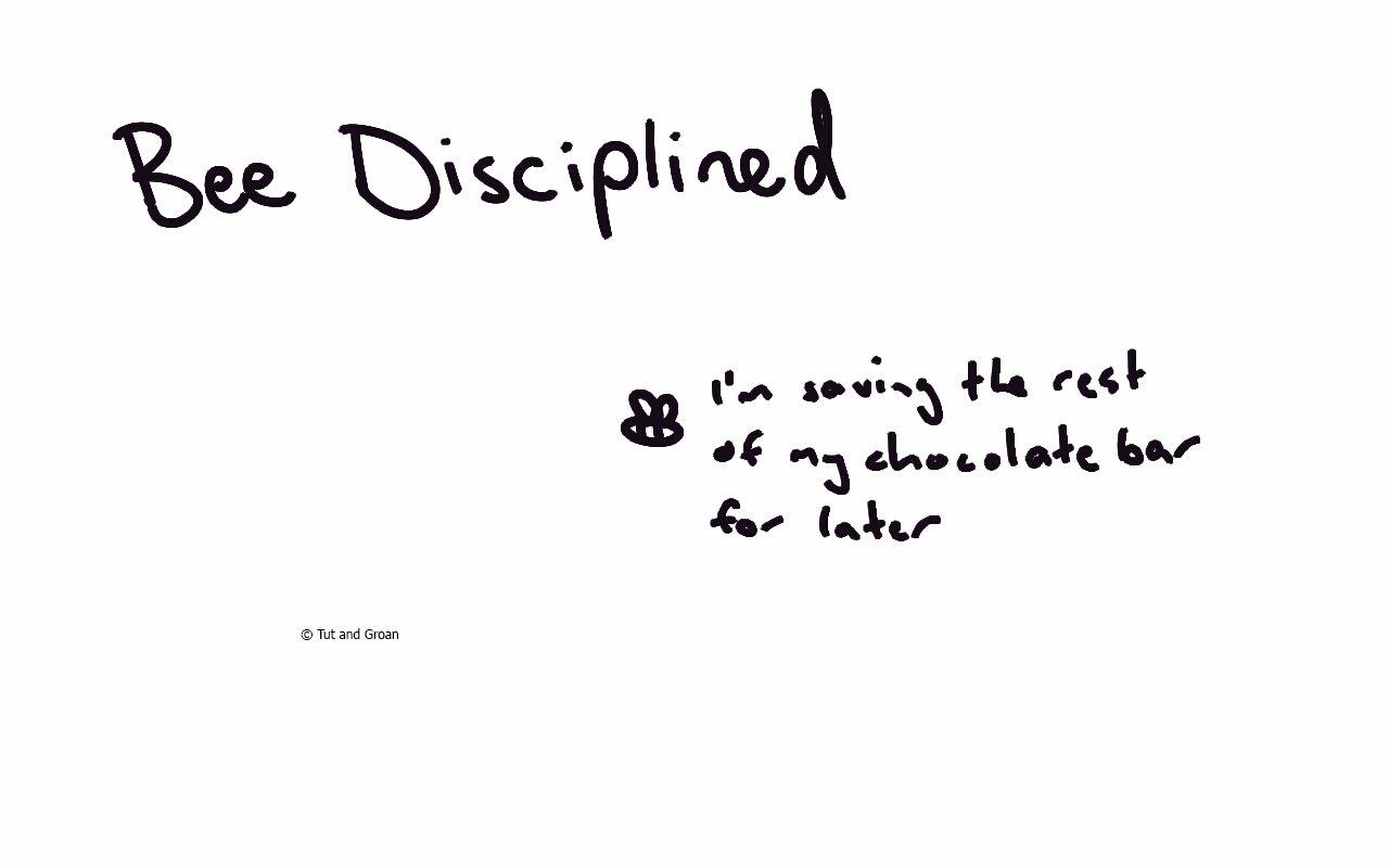 Tut and Groan Bee Disciplined cartoon