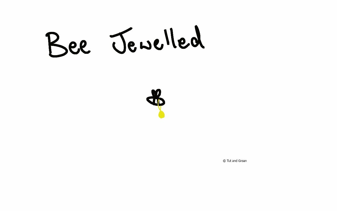 Tut and Groan Bee Jewelled cartoon