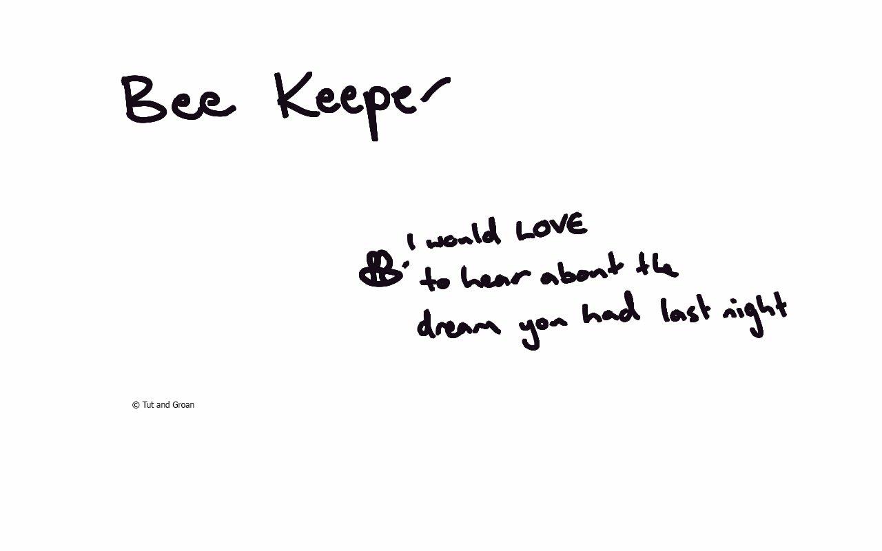 Tut and Groan Bee Keeper cartoon