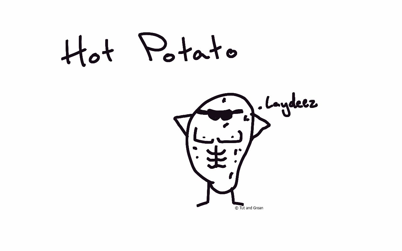 Tut and Groan Hot Potato cartoon