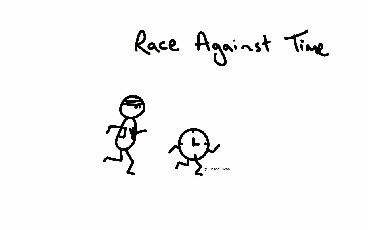 Tut and Groan Race Against Time cartoon