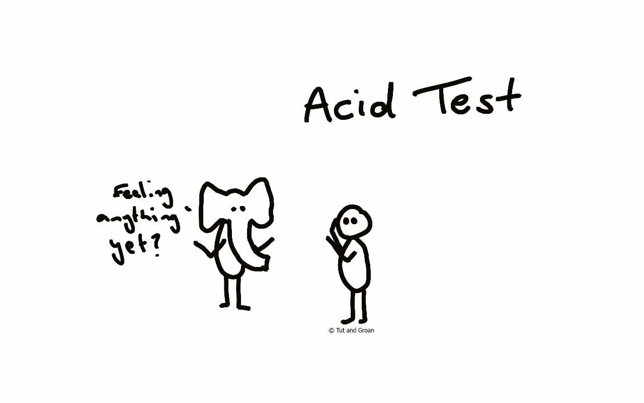 Tut and Groan Acid Test cartoon