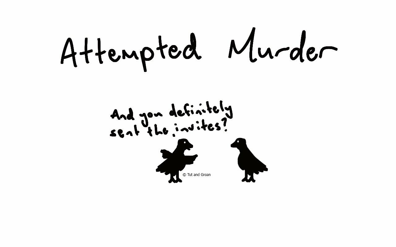 Tut and Groan Attempted Murder cartoon