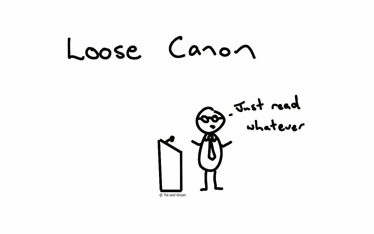 Tut and Groan Loose Canon cartoon
