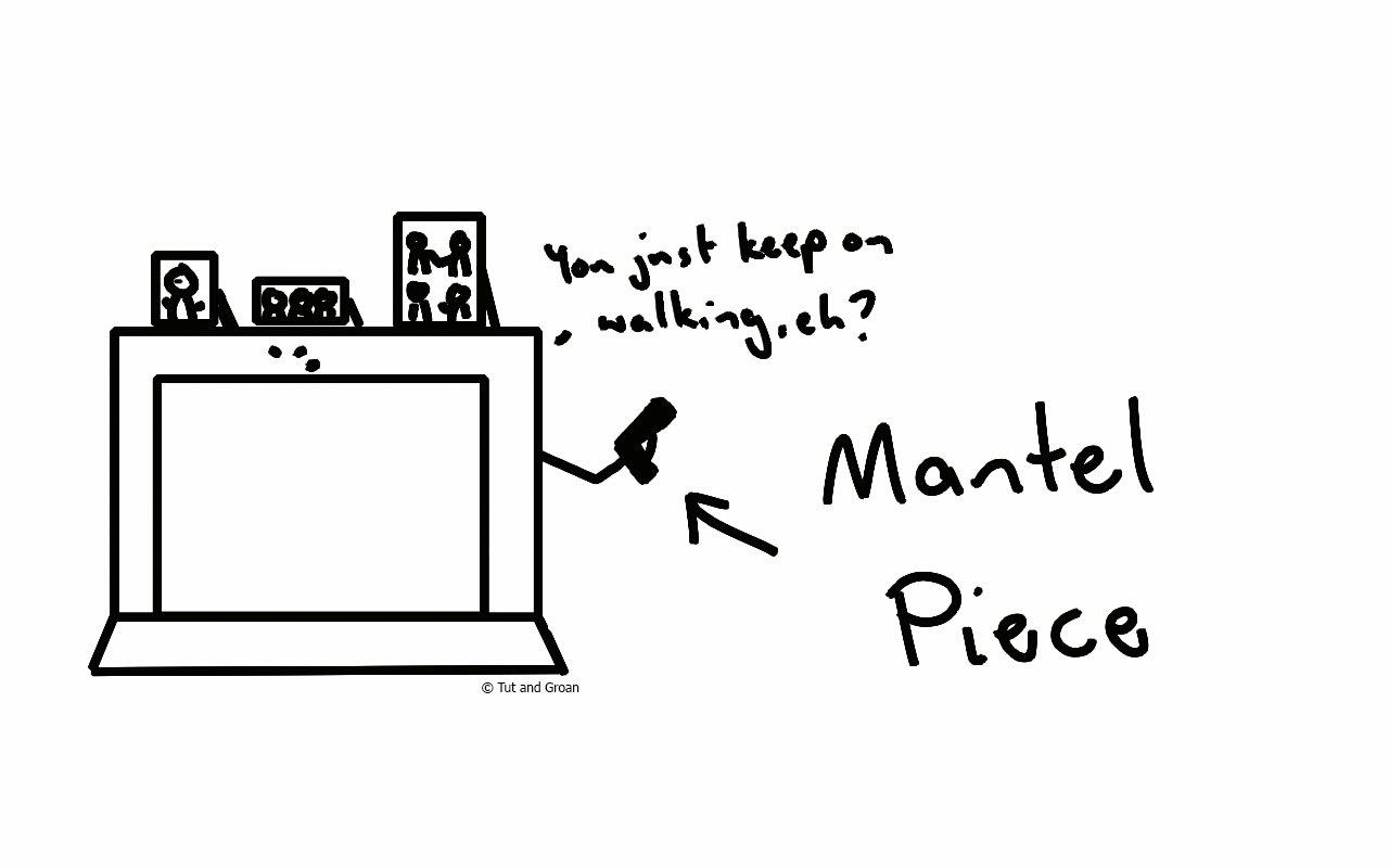Tut and Groan Mantel Piece cartoon