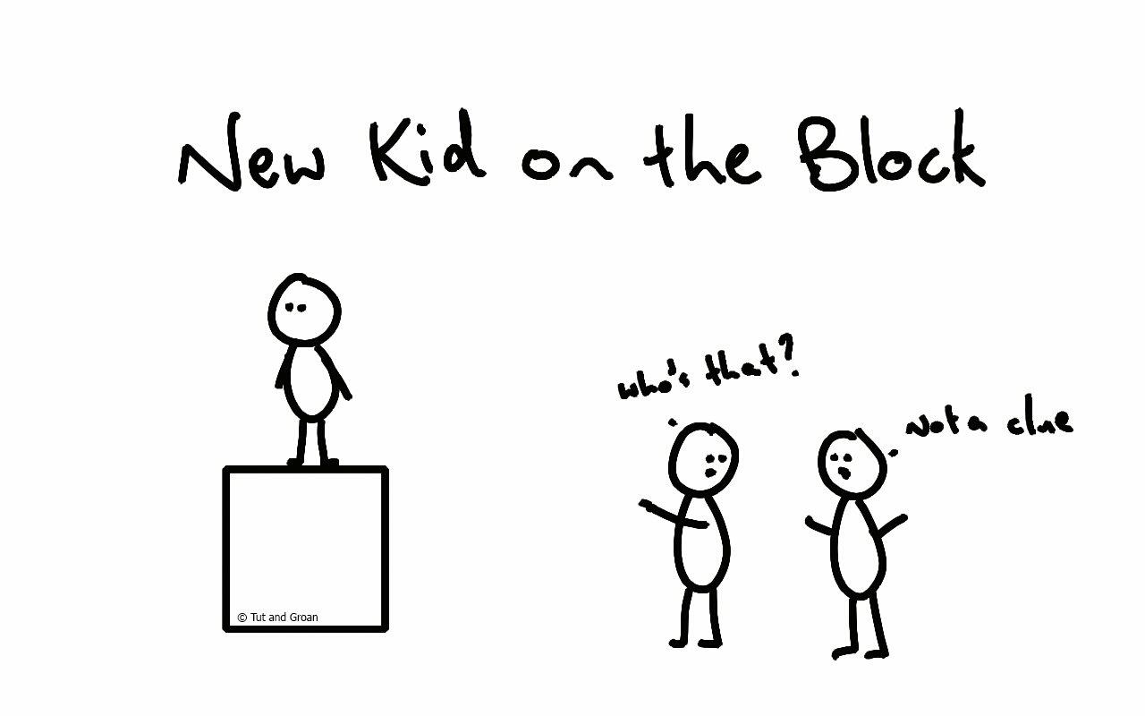 Tut and Groan New Kid on the Block cartoon