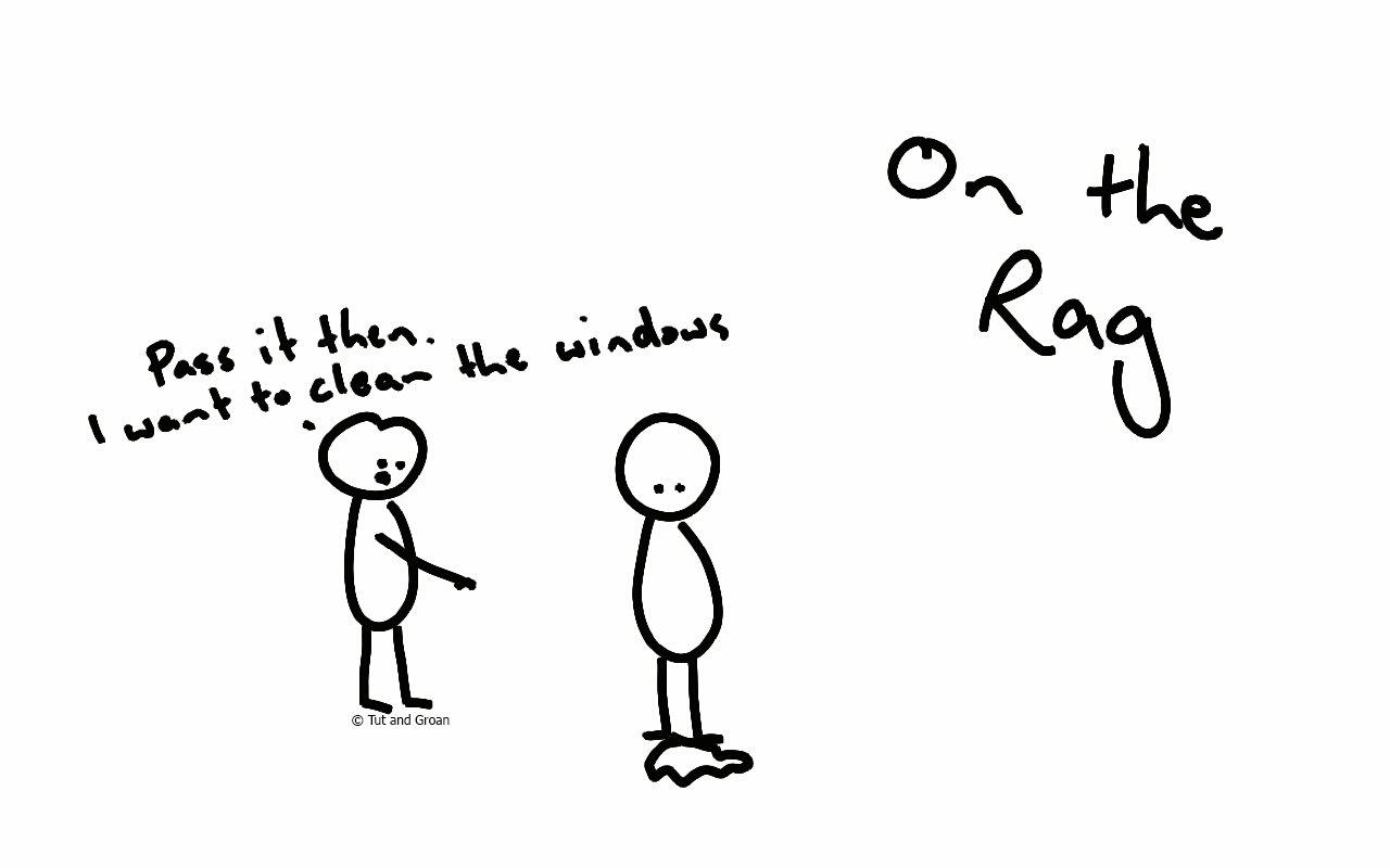 Tut and Groan On the Rag cartoon