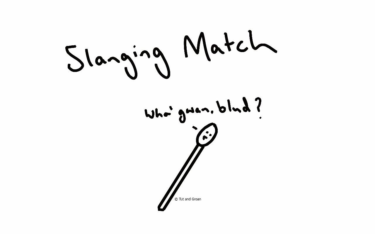 Tut and Groan Slanging Match cartoon