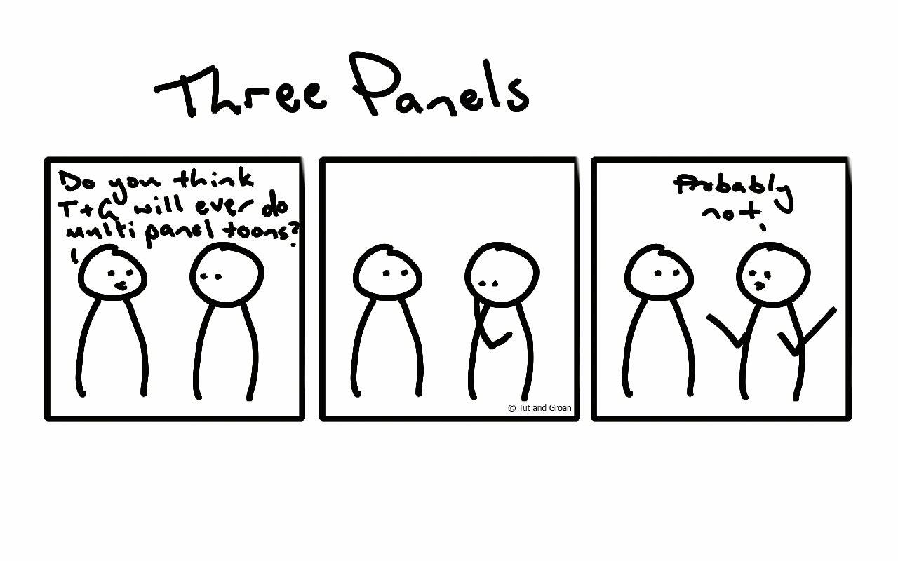 Tut and Groan Three Panels cartoon