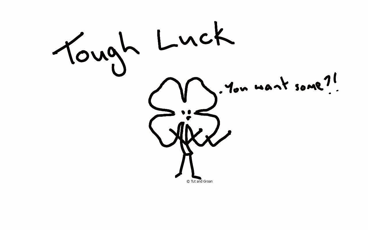 Tut and Groan Tough Luck cartoon