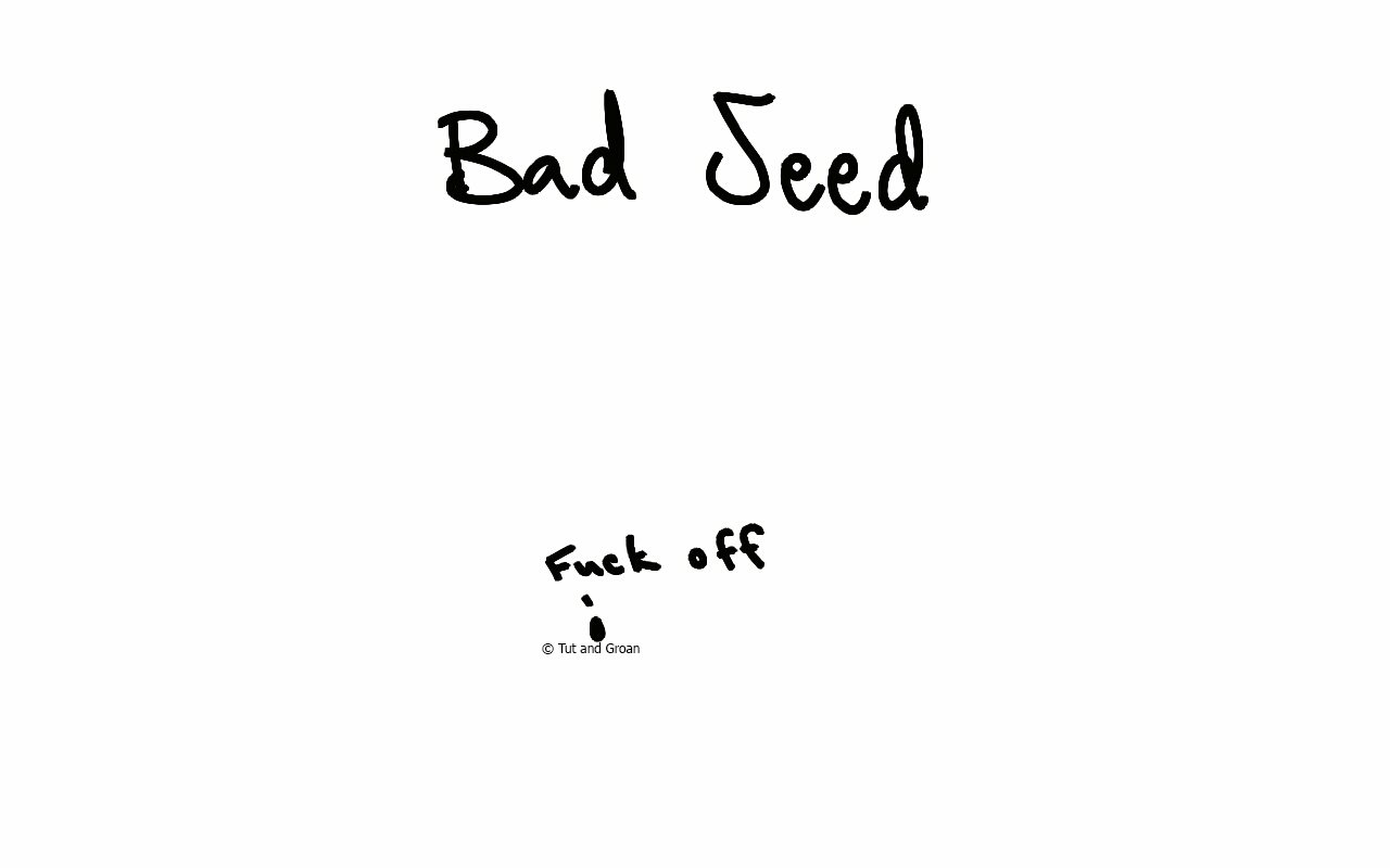 Tut and Groan Bad Seed cartoon