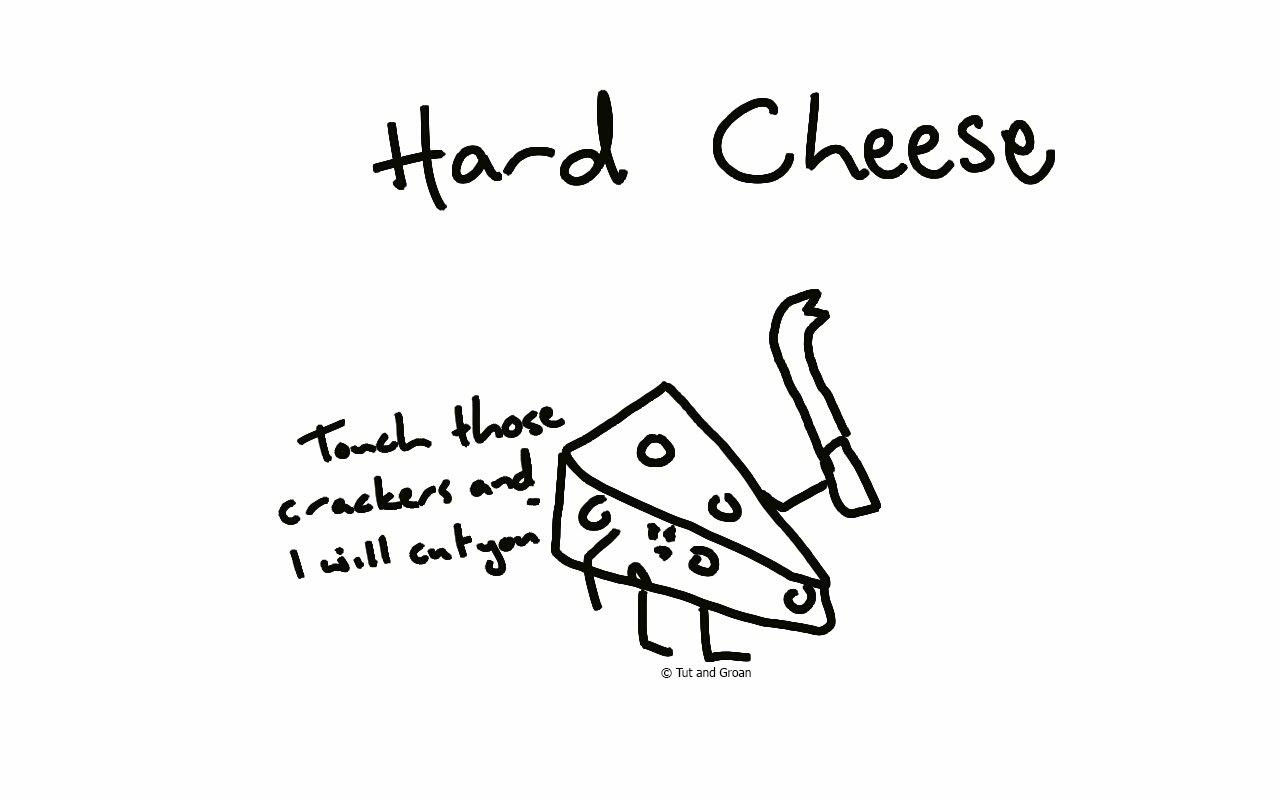 Tut and Groan Hard Cheese cartoon