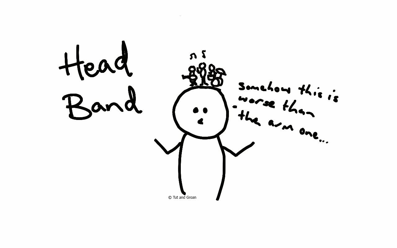 Tut and Groan Head Band cartoon
