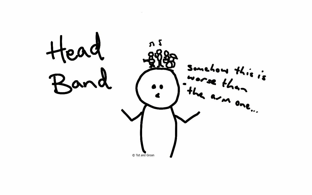 Tut and Groan Head Band cartoon