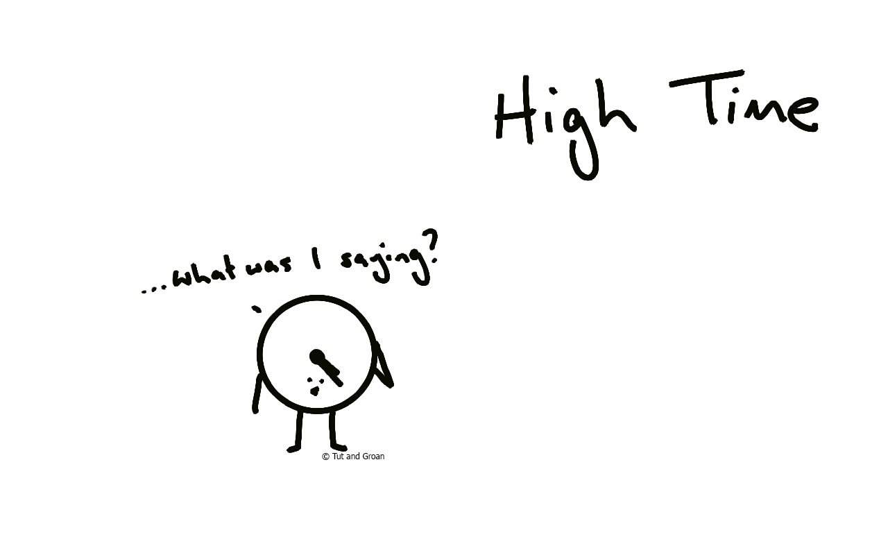 Tut and Groan High Time cartoon