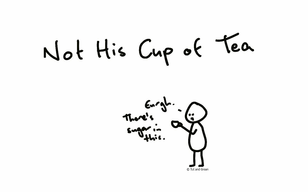 Tut and Groan Not His Cup of Tea cartoon