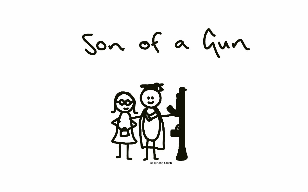 Tut and Groan Son of a Gun cartoon