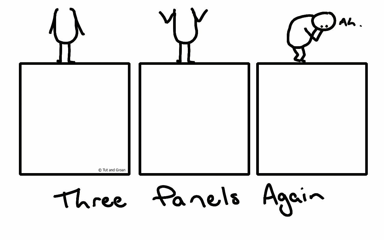 Tut and Groan Three Panels Again cartoon