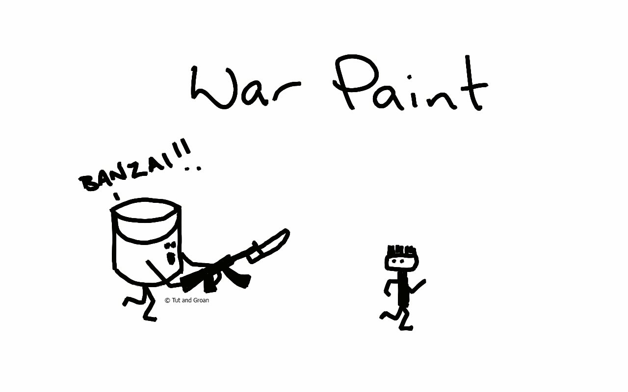 Tut and Groan War Paint cartoon