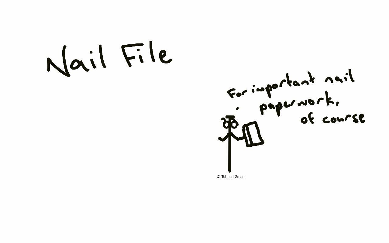 Tut and Groan Nail File cartoon