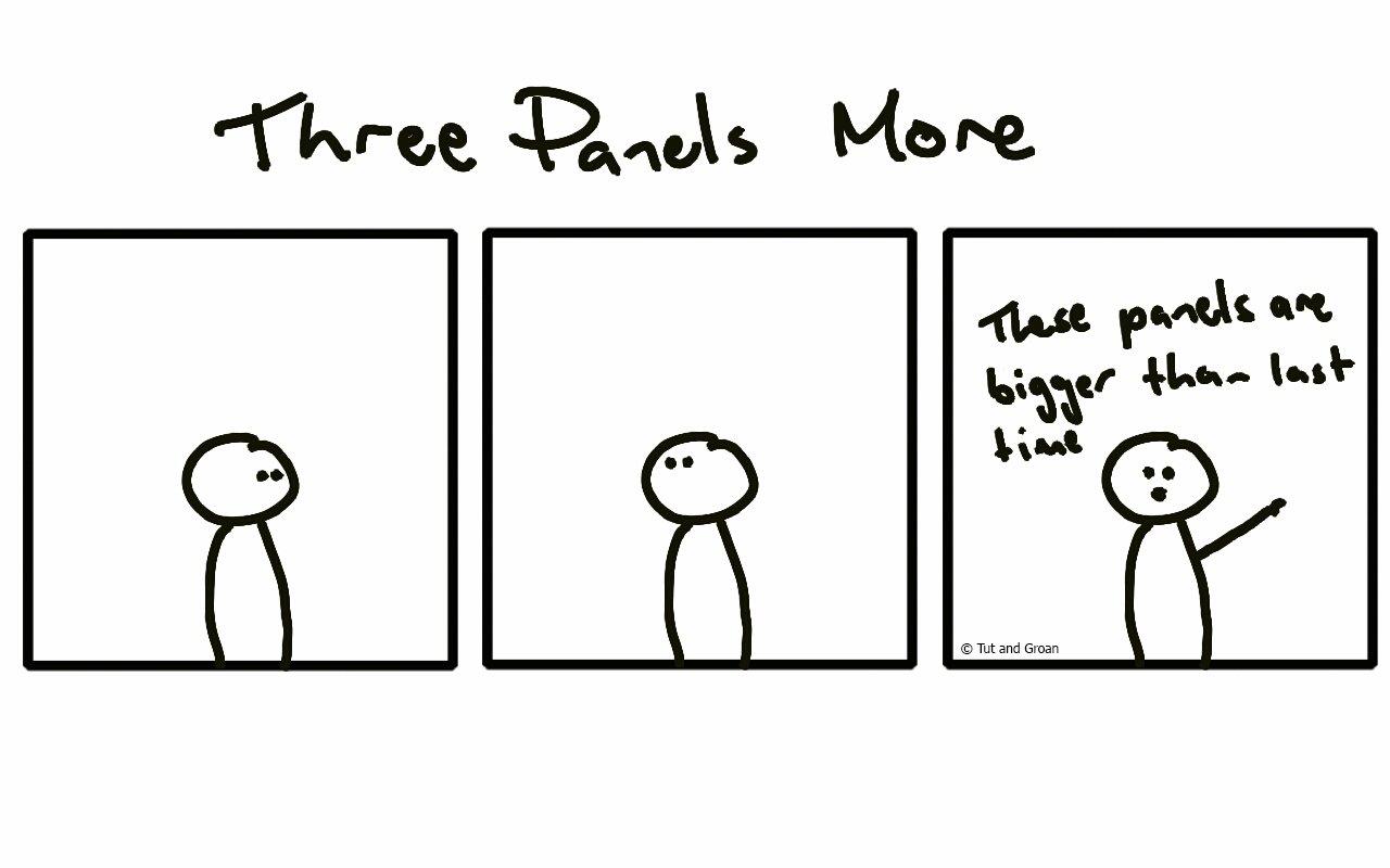 Tut and Groan Three Panels More cartoon