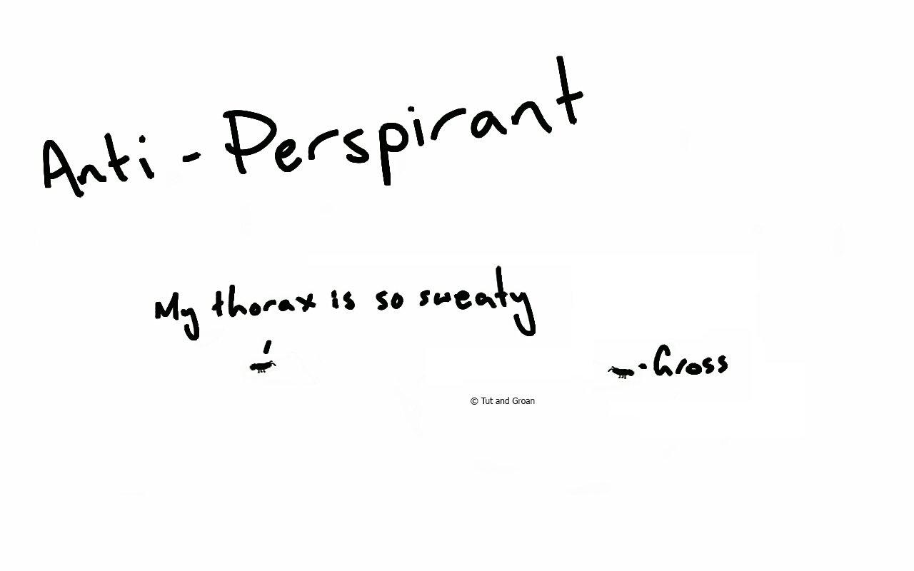 Tut and Groan Anti-PerspirAnt cartoon