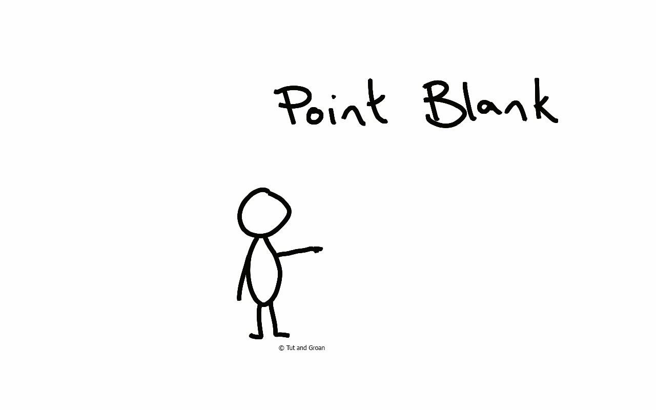 Tut and Groan Point Blank cartoon