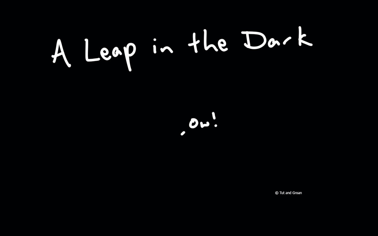 Tut and Groan A Leap in the Dark cartoon