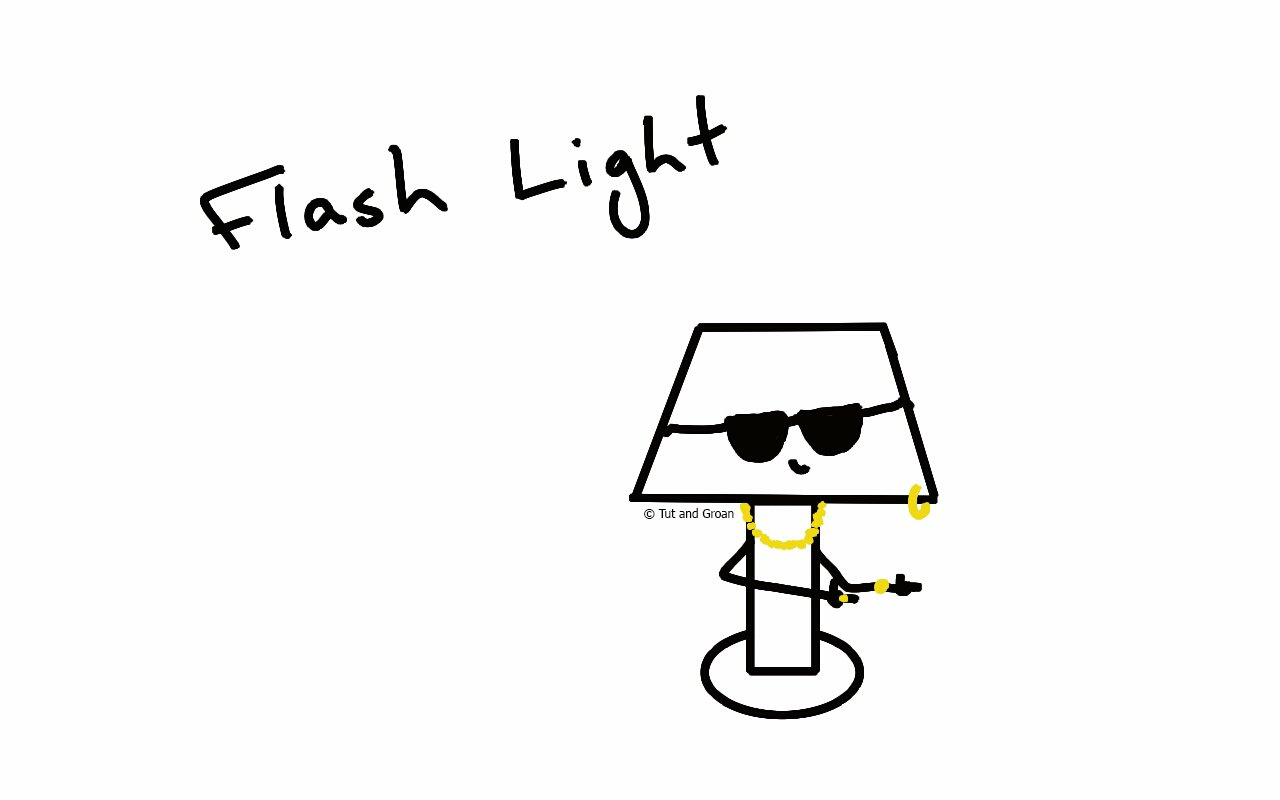 Tut and Groan Flash Light cartoon